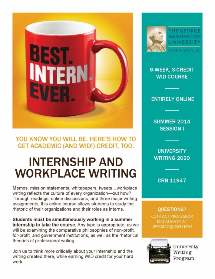 Internships and workplace writing university writing program the flyer for internships and workplace writing fandeluxe Images