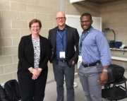 Three WID faculty pose for picture after presentation in Antwerp
