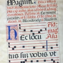 Page from 16th Century Spanish medieval music
