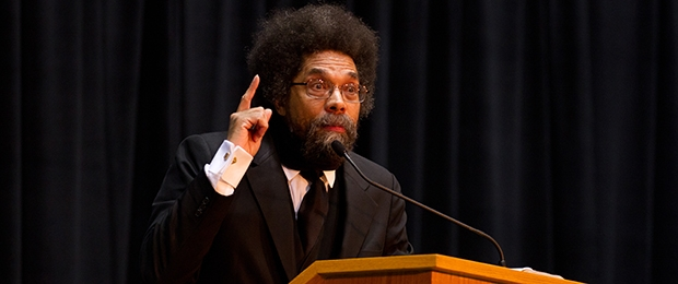 "Dr. Cornel West speaks at the 2011 ""Democracy and Public Argument"" conference"